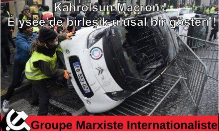 Kahrolsun Macron! Élysée'de birleşik ulusal bir gösteri!